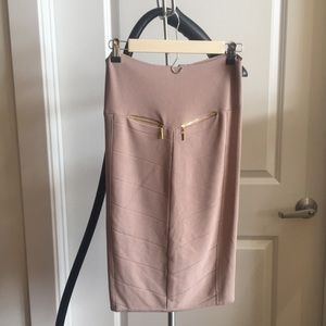 Sexy Bebe skirt with fabulous gold zippers!